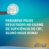 A Faculdade Nova Roma Parabeniza os Aprovados no Exame de Suficiência do CFC